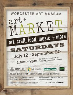 Art & Market at the WAM! Eric L'Esperance & Austin Troy, July 19th. The Promise is Hope performing August 23rd.
