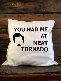 Meat Tornado Pillow by SatMorningPancakes on Etsy