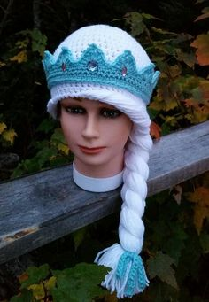 princess crown with braided hat