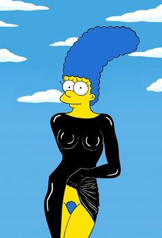 Marge as Stephanie Seymour / Marge Simpson Models The Most Iconic Fashion Poses Of All Time via Illustrator aleXsandro Palombo (via BuzzFeed)