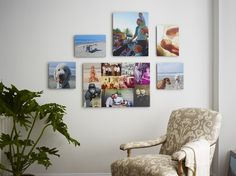 Decorate your home with mounted wall art. Its frameless design gives photos a modern look. #Pictures #WallArt