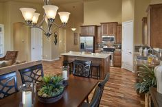 """The nice, open """"Georgetown"""" floor plan in Sharpe Farms, with new homes available in Dacono, CO   Henry Walker"""