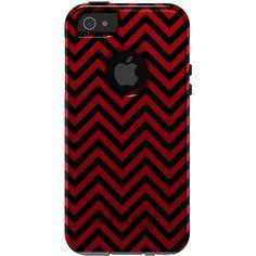 CUSTOM OTTERBOX Commuter Series Case for iPhone 5 5S - University of Georgia Bulldogs UGA Colors - Chevron Zig Zag