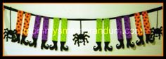 Witching You a Happy Halloween Banner #halloween #banner #witch #diy