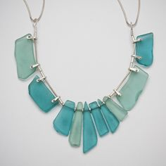 beach glass and sterling by laurie hall. Make jewellry  with beach glass!!
