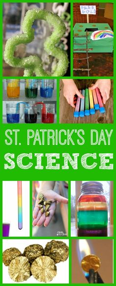 Cool Science Experiments for Kids with a St. Patrick's Day theme: What makes a rainbow? What are the chemical properties of gold? Can you catch a leprechaun? | Creekside Learning