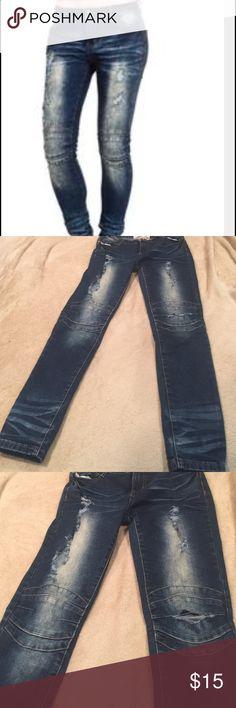 Jeans Soho babe ripped Moto denim stretch jeans Size 5 Soho Babe Jeans Skinny