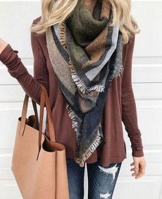 Fall casual outfit and purse, neutral colors #falloutfit #fallclothes#fall #autumn #casualoutfit #casual #clothes #plaid #fashion #purse #leggings #scarf #sweaters #boots #ad #ss #graysweater