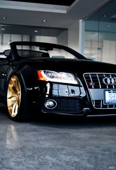 Audi S5 Cabrio on a set of Monaco Gold PUR 4OUR's