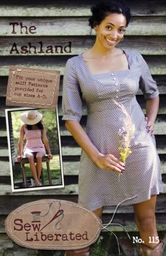 The Ashland Dress Sewing Pattern by Sew Liberated- comes in cup sizes A-D!