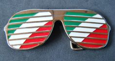 ITALY ITALIAN ITALIA ITALIE COUNTRY FLAG COOL SUNGLASSES BELT BUCKLE BELTS #Coolbuckles #italy #italian #italyflagsunglasses #sunglasses #beltbuckle