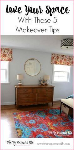These 5 room makeover tips will turn your worst room into your favorite! Practical and budget-friendly room makeover ideas.