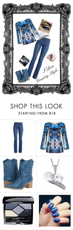 """Country Style 1."" by gabriella-bagdine-meszaros on Polyvore featuring Levi's, Massimo Matteo, Christian Dior and country"