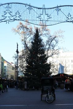 Christmas Tree on Vörösmarty Square, Budapest