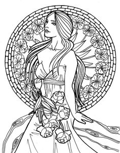 art nouveau coloring pages   NouveauLines by *AmensLamia on deviantART