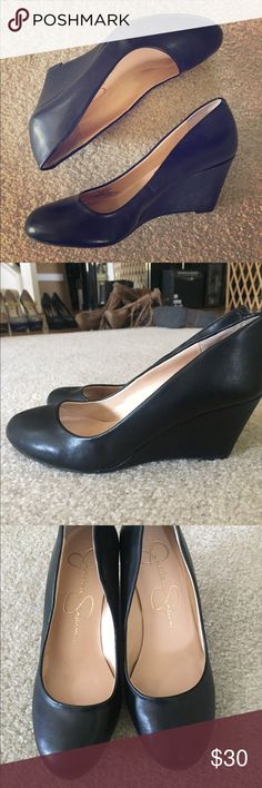 Jessica Simpson Wedges Like new condition! Only worn once. Heel is appx 3 inches. Will go great with anything! Jessica Simpson Shoes Wedges