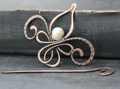 Shawl pin scarf pin hair slide brooch hair от Keepandcherish