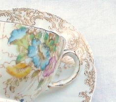 Vintage Demitasse Teacup and Saucer Set  by RosebudsOriginals, $24.95