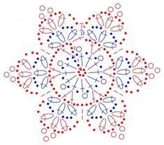 Transcendent Crochet a Solid Granny Square Ideas. Inconceivable Crochet a Solid Granny Square Ideas. Crochet Snowflake Pattern, Crochet Motifs, Christmas Crochet Patterns, Crochet Snowflakes, Crochet Diagram, Doily Patterns, Christmas Knitting, Thread Crochet, Crochet Doilies