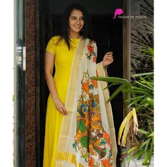 Dresses and Gowns Salwar Neck Designs, Half Saree Designs, Dress Neck Designs, Kurta Designs Women, Designs For Dresses, Party Wear Indian Dresses, Indian Gowns Dresses, Dress Indian Style, Kalamkari Dresses