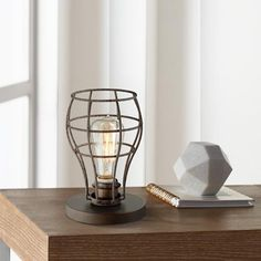 Oldham Industrial Uplight 9 And One Half Inchh Edison Bulb Table Lamp Edison Bulb Table Lamp, Metal Table Lamps, Lamp Bulb, Led Ceiling Lights, Room Lights, Table Lamps For Bedroom, Living Room Lighting, Vintage Table, Lamp Ideas