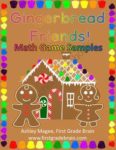 Gingerbread Math Games - 2 Free Sample Games! from FirstGradeBrain on TeachersNotebook.com (8 pages)  - Gingerbread Math Games - 2 Free Sample Games!