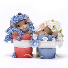 Charming Tails Flower Pot Mice. So precious!