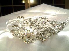 wedding rhinestone crystal hair tiara crown by Exquisitefindsbycj, $29.99