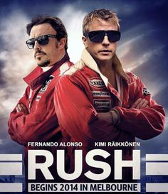 Rush 2 parody promotional poster for F1 2014