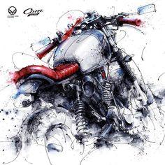 let the soul blossom Art Moto, Bike Sketch, Bike Drawing, Bike Tattoos, Bike Photography, Art Bag, Motorcycle Style, Bike Art, Automotive Art