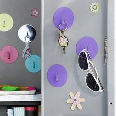 Locker Magnet Hooks, Set Of 3 #potterybarnteen