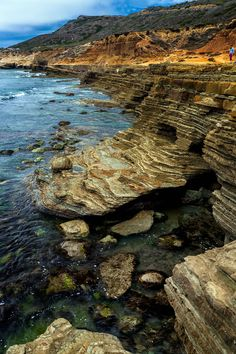 Adjacent to the original Point Loma Lighthouse, the San Diego coastline is rugged and colorful. The water is almost crystal, and you can watch the sea grass dance in as the waves move in and out.
