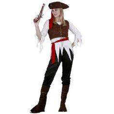 Tu mejor disfraz de pirata caribeña mujer.Este Disfraz de Pirata para mujer conserva la estética más clásica de estos vándalos marineros que surcaban los mares en busca de botines y mercancías que robar. Este disfraz te hará sentir como una auténtica guerrera de los océanos en Carnaval, Espectáculos y Fiestas Temáticas de Disfraces.
