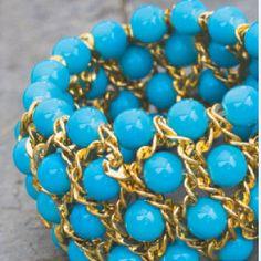 Chic Mixed Media Leather Bracelet | AllFreeJewelryMaking.com