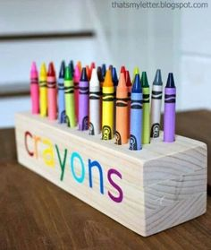 I need a block of wood, this would be really awesome for the kids desk! :)