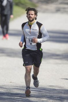 Prince Carl Philip of Sweden in the race of charity organized by the Lilla Barnets for the neonatal research at Stockholm Haga Park,