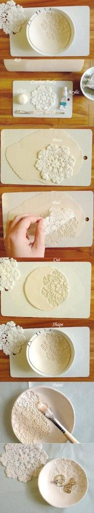 DIY... bol de porcelana ( DIY clay bowl) - Handbox | Craft Lovers