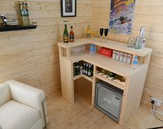 Premium Bar Counter Micro Pub Man Cave Summer by WilliamsJoinery Summer House Interiors, Small Summer House, Shed Homes, Home Bar Designs, Diy Home Bar, Bar Shed, Bars For Home, Storage Shed House Ideas, Shed Interior