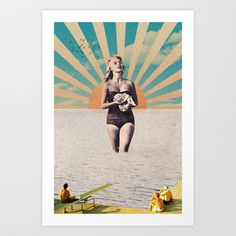 Sunset coming on Art Print by Sammy Slabbinck  - $19.99