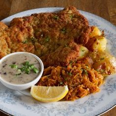 Cafe Europa - San Francisco, CA, United States. The best schnitzel in town!   w/ mushroom sauce