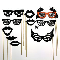 Halloween Photo Booth Party Mask Costume Props  by stickprops, $24.99