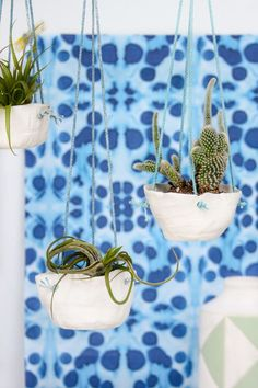 Hanging in There: DIY Hanging Clay Planters