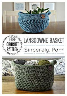 Crochet Gifts, Crochet Yarn, Crochet Stitches, Free Crochet, Crochet Basket Pattern, Crochet Patterns, Crochet Baskets, Yarn Projects, Crochet Projects