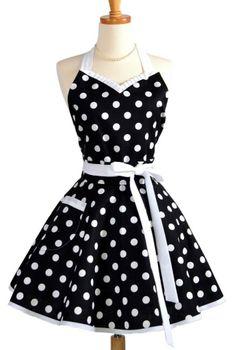 Vintage look aprons