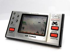 80s Retro Masudaya LCD Game Watch Play & Time Air Force MIJ Great Condition