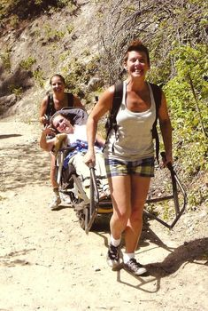 adaptive hiking with TrailRider. This piece of equipment is such a breakthrough... and look how much fun everyone is having!!!! Such a great leisure experience!