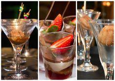 Miniporções de sobremesas em taças para casamento na praia - Foto KN Photos e Elaine M. Fotografias