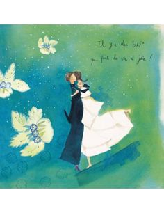 "Carte d'Art ""Il y a des oui. Art Postal, Anne Sophie, Love Sms, Art Carte, Fairy Tales, Illustration Art, My Arts, Poses, Painting"