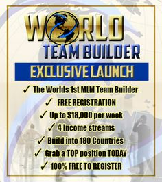 Amazing Launch Income in real time.  Make Money online from home. click here : http://www.worldteambuilder.com/justmoney