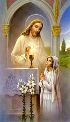 Resultado de imagen para jesus dando la hostia